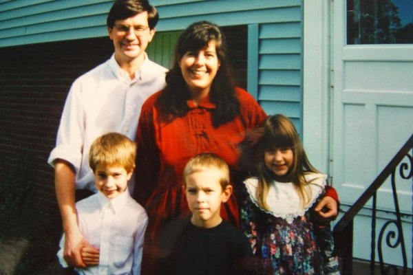 The Plodinec family, circa 1997